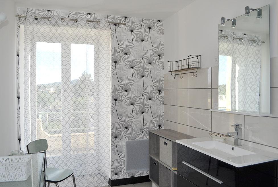 Salle-de-bain sur terrasse